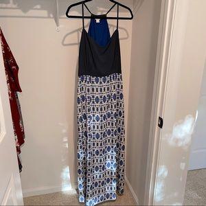 J. Crew IKat Print Maxi Dress